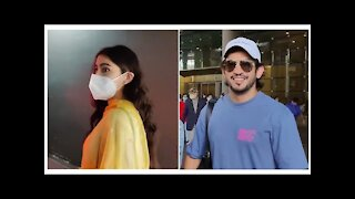 Sara Ali Khan & Arjun Bijlani with wife Spotted at the Airport | SpotboyE
