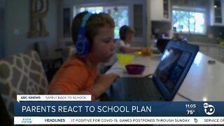 Parents react to school plan