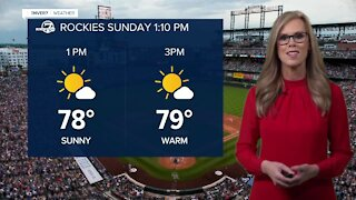 Record high temps possible for Sunday
