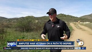 Amputee war veteran on a path to inspire
