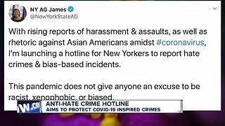 New York State launches hotline to report Coronavirus hate crimes