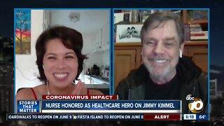 "San Diego nurse gets big surprise on ""Jimmy Kimmel Live"""