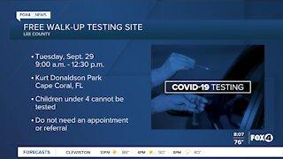 Free COVID-19 testing sites 9/28/20