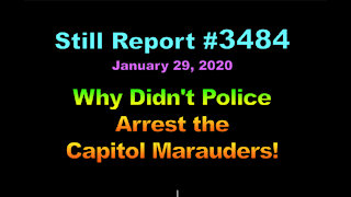Why Didn't Police Arrest the Capitol Marauders?, 3484