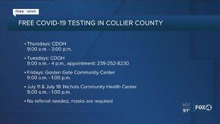 Collier County coronavirus testing sites