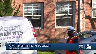 Apartment fire in Towson