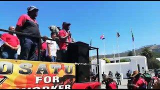 SOUTH AFRICA - Cape Town - Cosatu March (Video) (YFf)