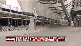 DDOT bus service to resume Wednesday morning with free rides