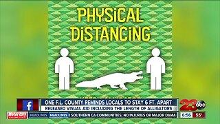 Health officials provide visual to display proper social distancing