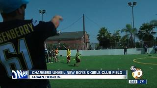 Chargers unveil new Boys & Girls Club field