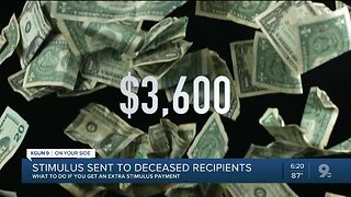 Stimulus payments sent to deceased recipients