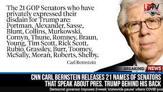 Senators that talk about President Trump behind his back