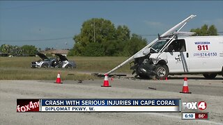 Crash with serious injuries in Cape Coral