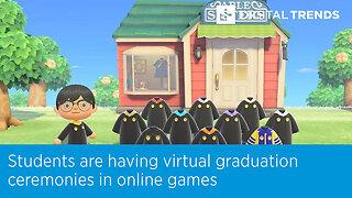 Students are having virtual graduation ceremonies in online games