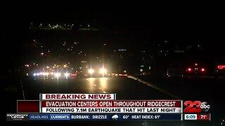 Evacuation centers open throughout Ridgecrest