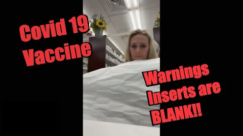 BLANK! Nothing on Covid Vaccine Information Sheets