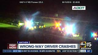 Wrong-way driver involved in crash on I-17