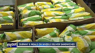 Subway and Metro Meals on Wheels deliver sandwiches