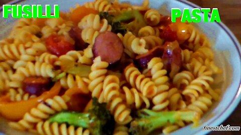 Fusilli Pasta Recipe with Sausage