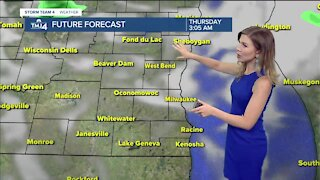 Cooler, partly cloudy Wednesday