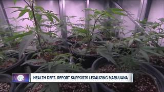 State health department report supports legalizing recreational marijuana