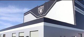 Las Vegas Raiders logo goes up on practice facility