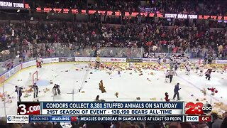 Bakersfield Condors collect 8,380 stuffed animals