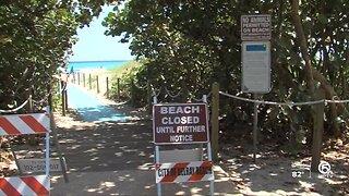 Beaches closed in Delray Beach