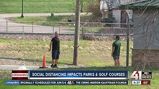 Social distancing impacts parks, golf courses