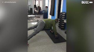 Neonato si allena già con un personal trainer