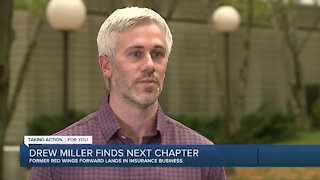 Former Red Wings forward Drew Miller finds next step after hockey: insurance business