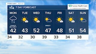 Chilly conditions continue on Sunday night