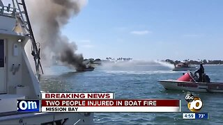 Two people injured in boat fire