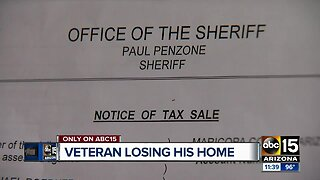 Disabled veteran struggles to keep home over property taxes