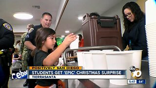 Students get 'epic' Christmas surprise