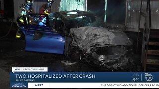 2 women taken to hospital after Allied Gardens crash