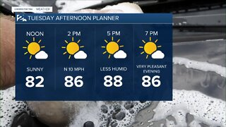 Tuesday midday weather with Carrigan Chauvin
