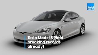 Tesla Model S Plaid breaking records already!