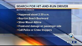 Boynton Beach police searching for hit-and-run driver
