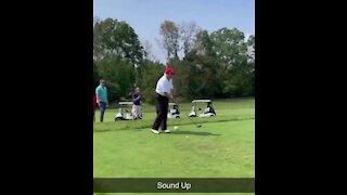 Trump Trolls Biden On The Golf Course