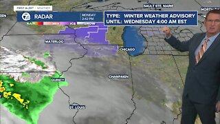 Rain/snow Tuesday
