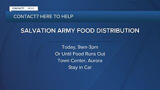 Need food? Salvation Army giving away 3000 food boxes