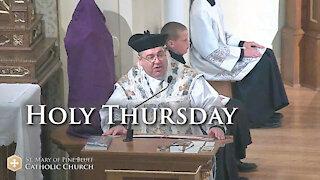 Fr. John Zuhlsdorf's Sermon for Holy Thursday, April 1, 2021 (TLM)