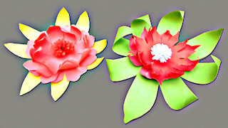 how to make beautiful flower with paper / DIY PAPER FLOWER / Paper Craft / Paper Flowers Making