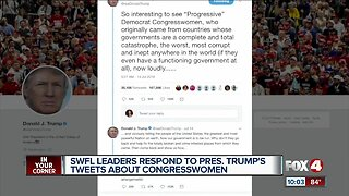 Local leaders respond to President's tweets about congresswomen