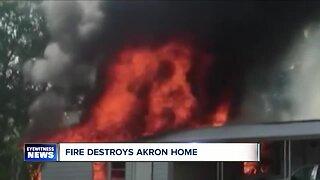 Akron fire under investigation