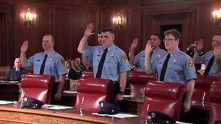 Cleveland fire cadet graduation ceremony