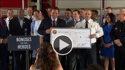 Governor DeSantis Holds Press Conference on First Responder Checks 5/5/21