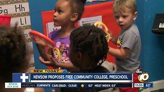 Governor Newsom proposes free tuition, preschool