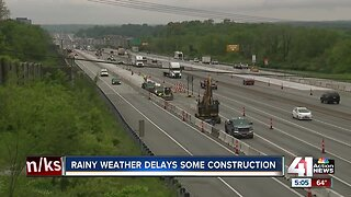 Rainy weather impacting construction around KC metro